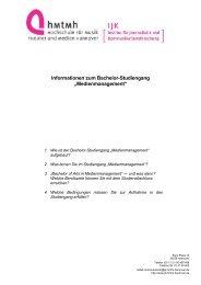 Bewerbung Bachelor MM - Institut für Journalistik und ...