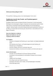 Praktikanten (m/w) für das Produkt- und Projektmanagement