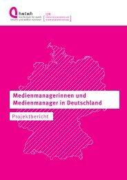Medienmanagerinnen und Medienmanager in Deutschland ...