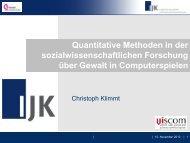 Präsentation von Prof. Dr. Christoph Klimmt