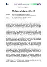 Medienentwicklung im Wandel - Institut für Journalistik und ...