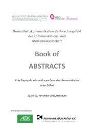 Book of ABSTRACTS - Institut für Journalistik und ...