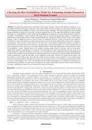 Choosing the Best Probabilistic Model for Estimating Seismic ... - ijmer