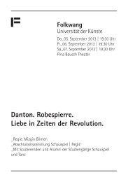 Veranstaltungsprogramm (Pdf) - Folkwang Universität der Künste