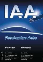 S 001-048 IAA Neuheiten - IAA - Internationale Automobil-Ausstellung