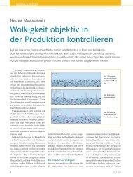 Wolkigkeit objektiv in der Produktion kontrollieren