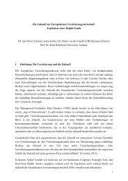 1 Die Zukunft der Europäischen Versicherungswirtschaft ... - PURE