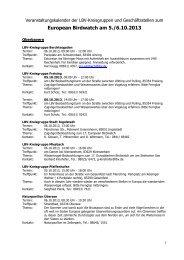 Das Veranstaltungsprogramm zum BirdWatch 2013 in Bayern ... - LBV