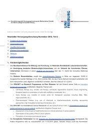 Newsletter Versorgungsforschung November 2013, Teil 2