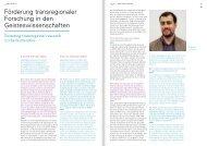 Förderung transregionaler Forschung in den Geisteswissenschaften