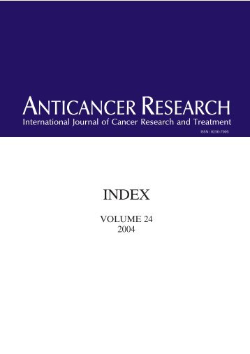 EXOF. INDEX - Anticancer Research