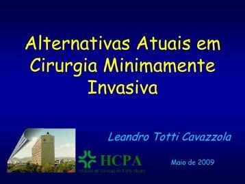 Alternativas Atuais em Cirurgia Minimamente Invasiva - IJP