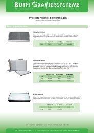 Preisliste Absaug- & Filteranlagen - Buth Graviersysteme Gmbh ...