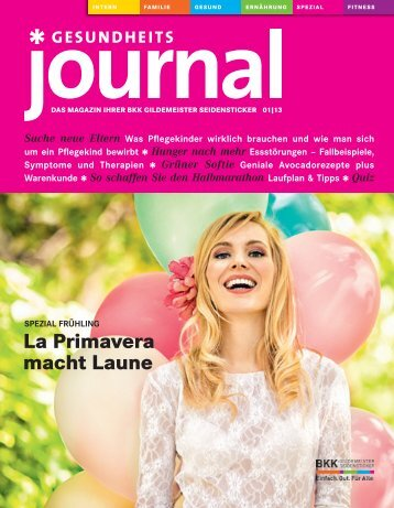Journal Ausgabe 01/2013 (PDF 5,16 MB) - BKK Gildemeister ...
