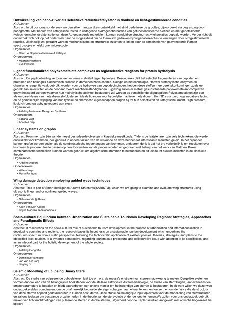 Onderzoeksprojecten (1000 - 1500 van 8189)
