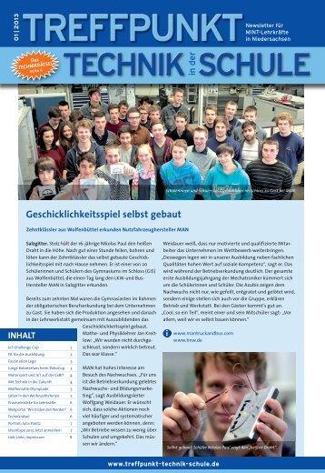 Ausgabe 01/2013 - Treffpunkt Technik in der Schule