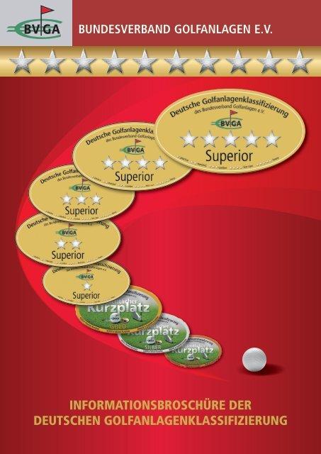 InformatIonsbroschüre der deutschen GolfanlaGenklassIfIzIerunG