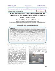 novel self-emulsifying drug delivery system- an approach to ... - ijrpc