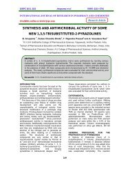 synthesis and antimicrobial activity of some new 1,3,5 ... - ijrpc