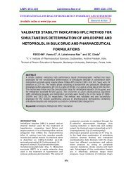 validated stability indicating hplc method for simultaneous ... - ijrpc