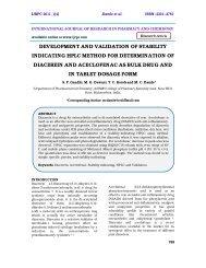 development and validation of stability indicating hplc method ... - ijrpc