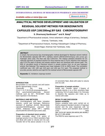 phd thesis analytical method development validation