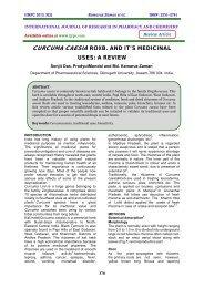 curcuma caesia roxb. and it's medicinal uses: a review - ijrpc