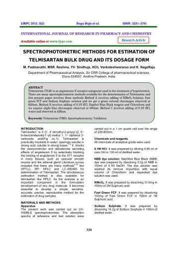 quantitative analysis by spectrophotometric methods View quantitative analysis research papers on academiaedu for free.