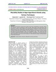 Miscibility Studies of Agar-Agar/Starch blends using Various ... - ijrpc