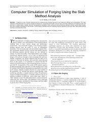 Computer Simulation of Forging Using the Slab Method Analysis