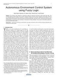 Autonomous Environment Control System using Fuzzy Logic
