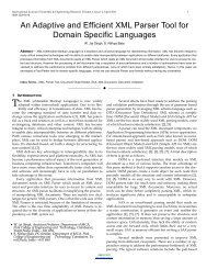 An Adaptive and Efficient XML Parser Tool for Domain Specific ...