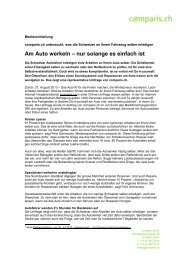Download der Medienmitteilung als PDF - Comparis.ch