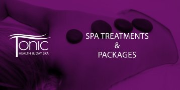 the Tonic Health & Day Spa Brochure - Castleknock Hotel
