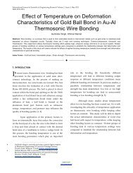 Effect of Temperature on Deformation Characteristics of Gold Ball ...