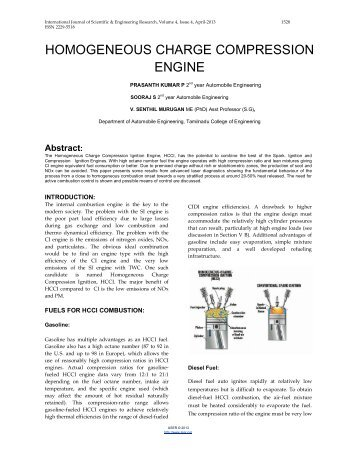 homogeneous charge compression engine - International Journal of ...