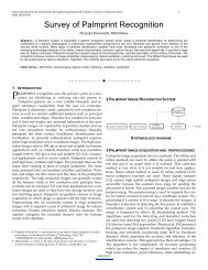 Survey of palmprint recognition - International Journal of Scientific ...