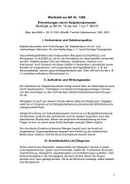 Merkblatt zur BK Nr. 1309: Erkrankungen durch Salpetersäureester