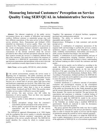 measuring services quality 2010-1-11  the core data services upon which these practices rely  data quality as well as the capability to define rules for inspection and monitoring,.