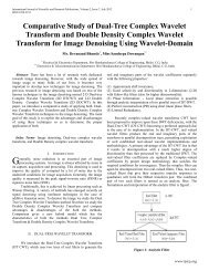 Comparative Study of Dual-Tree Complex Wavelet ... - Ijsrp.org