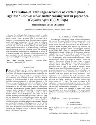 Evaluation of antifungal activities of certain plant against ... - Ijsrp.org
