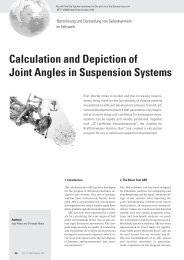 Calculation and Depiction of Joint Angles in Suspension Systems - ika
