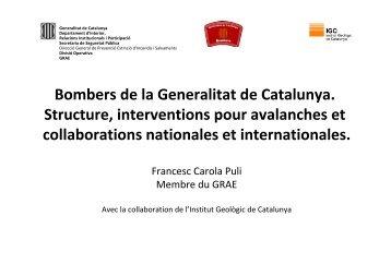 Bombers de la Generalitat de Catalunya. Structure ... - IKAR-CISA