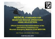 medical standards for mountain rescue operations ... - IKAR-CISA