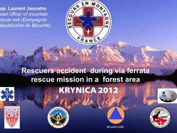 Rescuers accident during via ferrata rescue mission in ... - IKAR-CISA