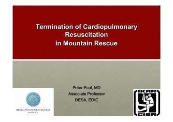 Termination of Cardiopulmonary Resuscitation in ... - IKAR-CISA