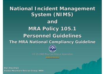 MRA Policy 105.1 - IKAR-CISA