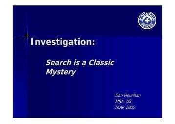 Investigation: - IKAR-CISA