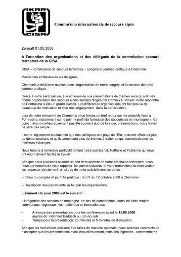 Commission internationale de secours alpin - IKAR-CISA