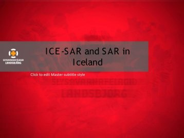 ICE-SAR and SAR in Iceland - IKAR-CISA